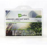 Ölpapier für Papierschredder, Set 12 Blätter